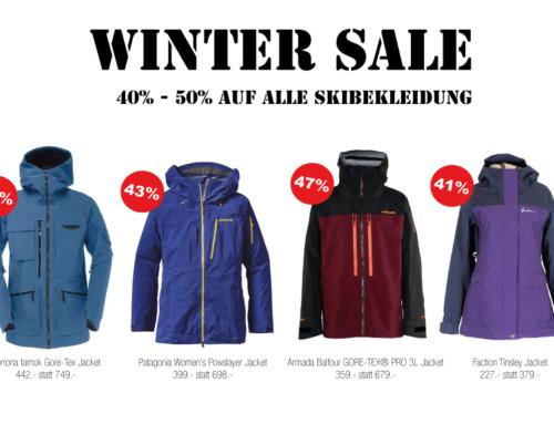 Winter Sale 40% bis 50% auf alle Winterbekleidung