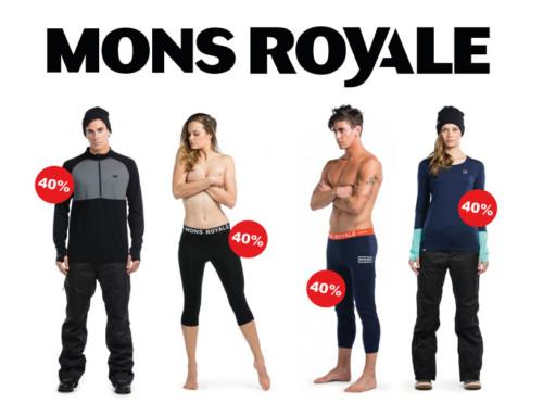 Mons Royale Sale 40%