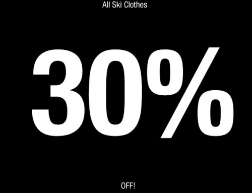 30% off all ski clothes