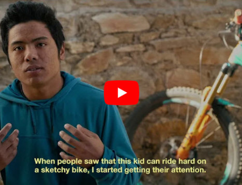 Nice Story from Nepal about a passionate biker who would not give up